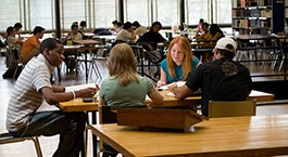 IIT students in library