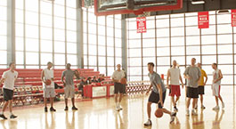 IIT students playing basketball